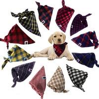 50Pcs Hot Sale Adjustable Pet Dog Cat Neck Scarf Tie Bowtie Necktie Bandana Collar Neckerchief Dog Accessories Grooming A19