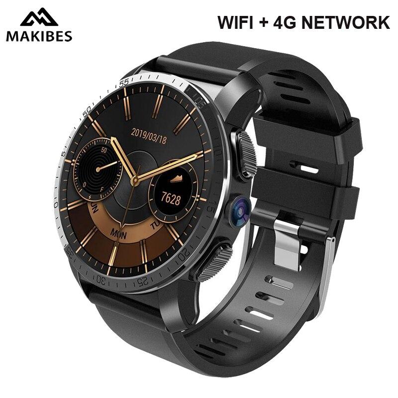 Makibes M3 4G Smartwatch téléphone Android 7.1 MTK6739 NRF52840 double-puce 2 GB RAM 16 GB ROM 1.39 pouces écran GPS 8MP caméra IP 67