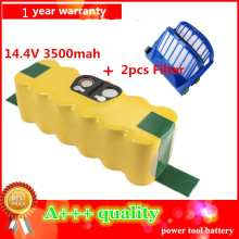 3500mAh High Quality New Battery Pack for iRobot Roomba 600 610 620 625 630 650 660+2pcs Filters