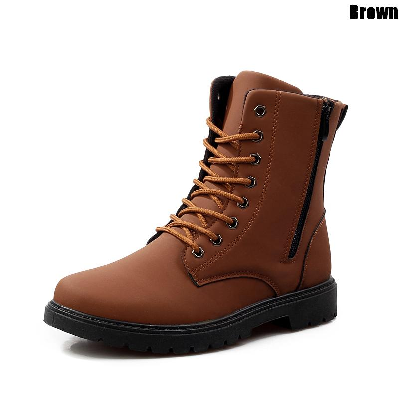 Summer font b Men s b font Casual Leather Military Army Tactical Combat font b Boots