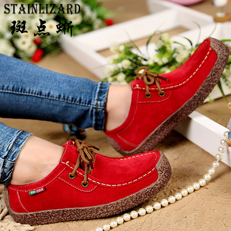 2017 Fashion Woman Casual Shoes Wild Lace-up Loafers Women Flats Comfortable Footwear Woman Shoes Breathable Female Shoes aDT90 real pic high color decorative rivets women casual shoes brand designer lace up comfortable women flats shoes woman