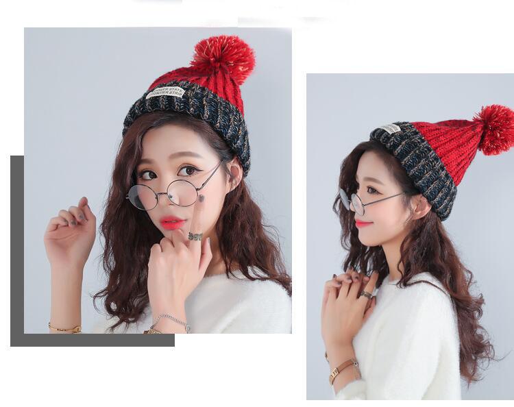 قبعة صوف دافئة نسائية 2