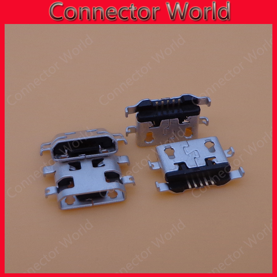 10pcs/lot For <font><b>Alcatel</b></font> <font><b>6035R</b></font> Idol S 4033 4033D POP C3 micro usb charge charging connector plug dock socket port image