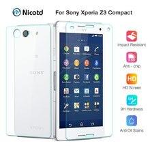 2 cái/lốc Front + Trở Lại Tempered Glass Phim Cho Sony Xperia Z3 Mini Z3 Nhỏ Gọn D5803 D5833 9 H 2.5D bảo Vệ màn hình Bảo Vệ Phim