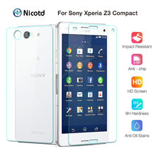 2Pcs/Lot Front+Back Tempered Glass Film For Sony Xperia Z3 Mini Z3 Compact D5803 D5833 9H 2.5D Screen Protector Protective Film
