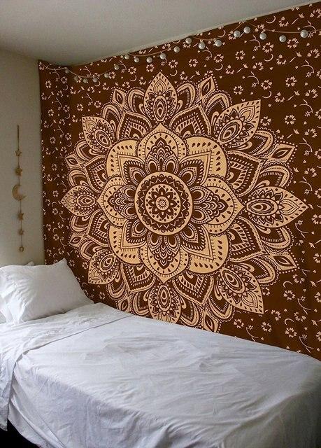 Imprim rectangle carr indien mandala motif tapisserie - Motif tapisserie ...