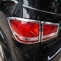 4PCS For Dodge Journey JCVU JC For Fiat Freemont 2012 2013 2014 ABS Chrome Plastic Rear Tail Light Lamp Cover Trim Lamp Hoods