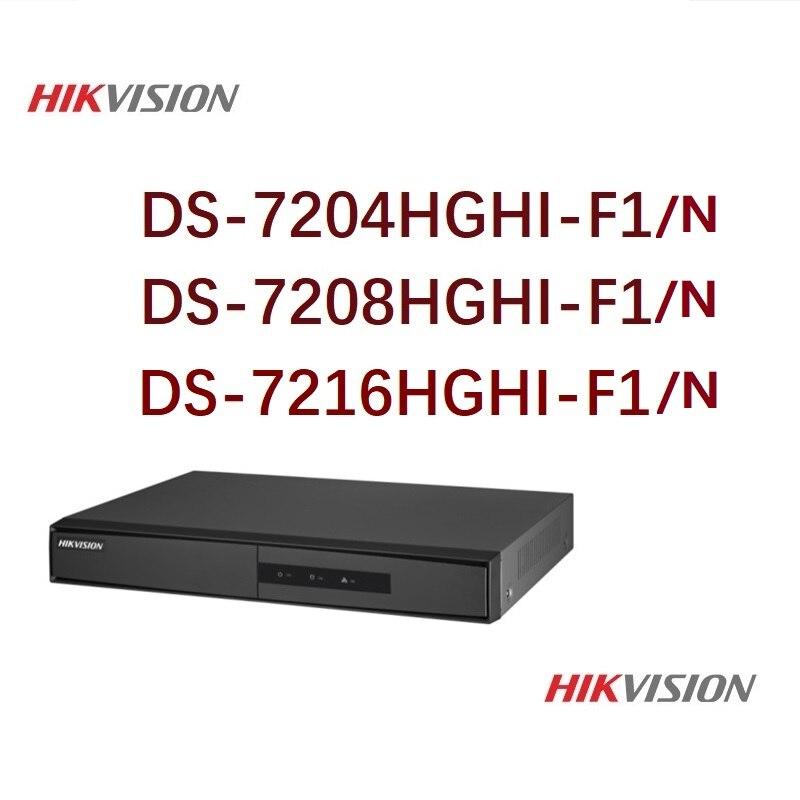 Hikvision Version anglaise DS-7204/08/16HGHI-F1/N 1080 P 4/8/16CH CCTV XVR pour caméra de sécurité analogique/HDTVI/AHD/IP 1 SATA