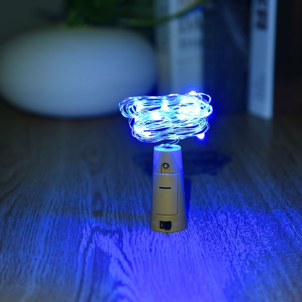Lights & Lighting Led Lamps Search For Flights Cork Shaped Wine Bottle Stopper String Lights 2 Meters 20 Leds Silver Copper Wire Diy Christmas Halloween Wedding Party Crafts Attractive Appearance