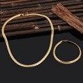 """18 K Real banhado a ouro com """" 18 K """" selo homens jóia por atacado moderna de ouro 6.5 MM colar grande cadeia serpente"""