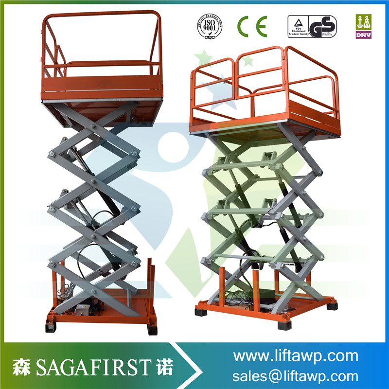 1000kg Stationary Custom Recessed Scissor Lift Workshop