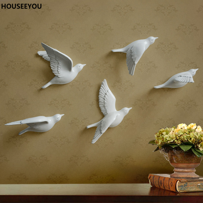 Decoration Ideas Delectable Image Of Decorative Colorful: 3D Resin Peace Dove/bird Mural Home Decor Hanging