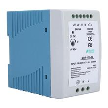 MDR-10-24 96W 24V/ 4A Din Rai Single Output Industrial Power Supply For Industrial Control Apparatus [freeshiping 2pcs] mean well original mdr 60 24 24v 1 25a meanwell mdr 60 24v 60w single output industrial din rail power supply