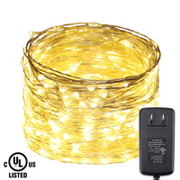 300Leds Silver Wire Lights 98Ft 30M String Lights For Christmas Light Festival Wedding Party Home Decoration