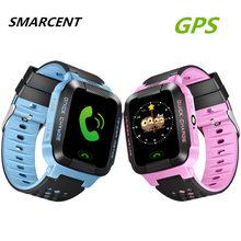 SMARCENT GPS Rracker Children Smart Watch 1.44 Inch Touch Screen With Flashlight SOS Anti Lost GSM Phone Setracker APP pk Q50