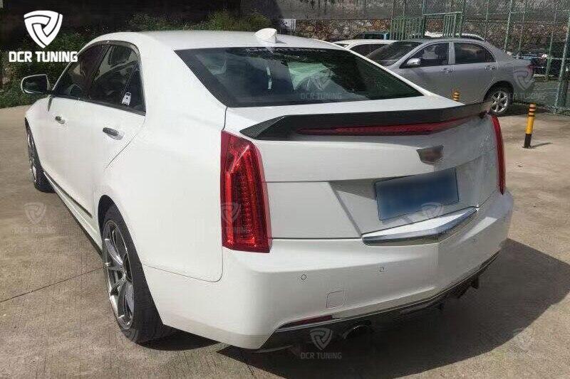 For Cadillac ATS Spoiler D3 Style Carbon Fiber Rear Trunk Wing 4-Doors Sedan 2015 2016 2017 (4)