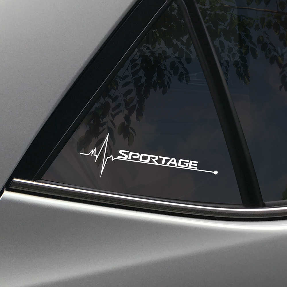 2PCS רכב צד חלון מדבקות לקאיה Sportage 3 4 QL ספורט שובה לב רעיוני מדבקות אוטומטי חלון קישוט רכב אבזרים