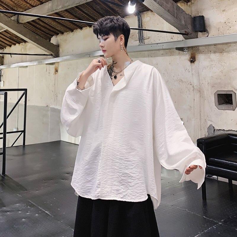 Men Oversize Long Sleeve Casual Pullover Shirts Male Women Vintage Fashion Japan Streetwear Hip Hop Punk Gothic Shirt