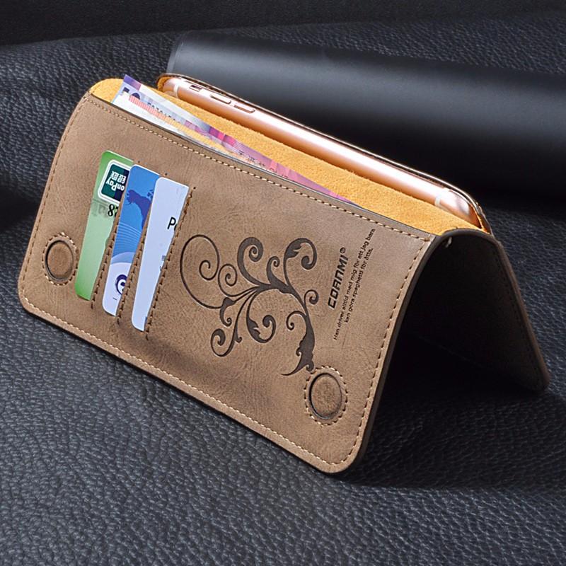 5.5 Uniwersalny Vintage Odwróć Skórzany Portfel Etui Do IPhone 5 6 7 Plus dla HTC Huawei LG Sony Dla Samsung S4 S6 Krawędzi Uwaga 7 Case 3