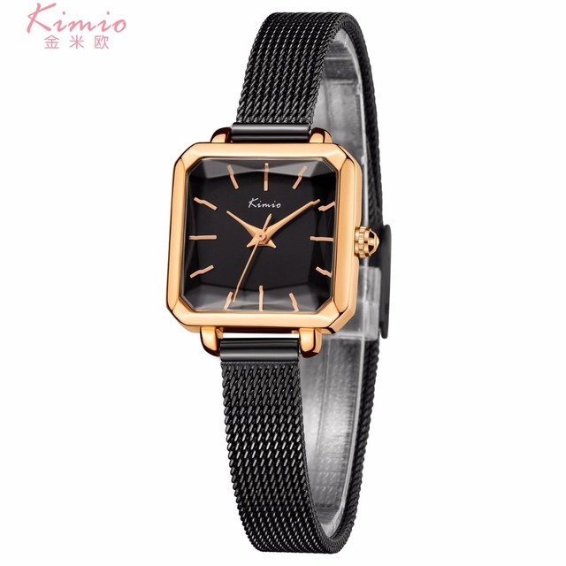 3f5c2bf3 KIMIO Square Shape Bracelet Ladies Watch Luxury Brand Dress Quartz Watch  Wrist Watches For Women Clock