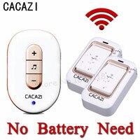 CACAZI 2017 New Kinetic Electronic Wireless Doorbell Sefl Powered No Need Battery Led Light Door Bell