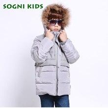 SOGNI KIDS New Arrival Boys Winter Jackets Long Thicken Boys Winter Coat Duck Down Kids