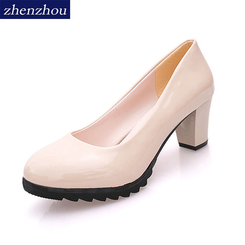 Free shipping Women Pumps 2018 new autumn Waterpro The shallow mouth Round head high heels single shoes OL women's shoes 16cm fine with high heels female korean version of the sexy thin bow shoes round head shallow mouth shop shoes