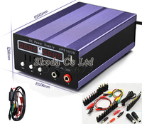Free shipping mini Digital Display Adjustable DC Power Supply 15V2A 0.01V 0.001A with USB outputs +48 PCS interface cable