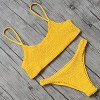 Bikini 2018 Bandeau Swimwear Women Swimsuit Push Up Bandage Swimming Bathing Suit Brizilian Bikini Set Maillot