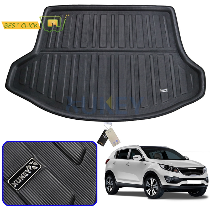 Rear Trunk Liner Cargo Boot Mat For KIA Sportage 2011-2015 Floor Tray Protector Carpet Mud Kick Pad 2012 2013 2014 R SL(China)