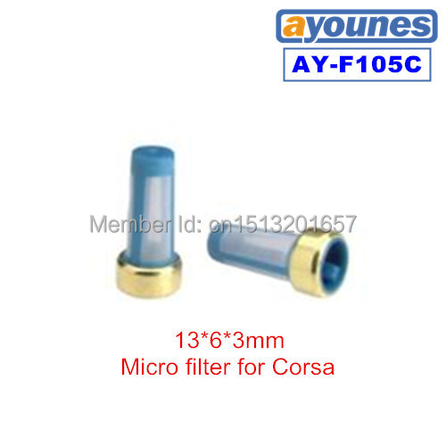 free shipping 200pieces fuel injector filter with size13*6*3mm for highlander repair kits (AY-F105C)