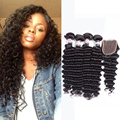 Deep Wave Brazilian Hair With Closure 8a Brazillian Deep Wave With Closure 4 Brazilian Bundles With Closure Big Promotion