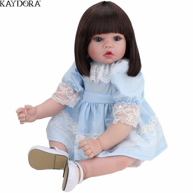 KAYDORA 55cm 22 Inch Silicone Reborn Girl Dolls Realistic Girl Doll Toys Lifelike Princess Bebe Reborn menina Christmas Gift