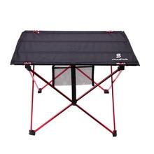 Mesa plegable para Picnic al aire libre estructura ultraligera de aleación de aluminio mesa de Camping impermeable mesa plegable para Picnic