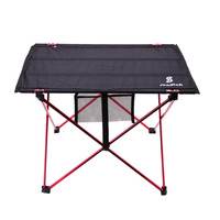 1PC 56X42X37cm Aluminium Alloy Travelling Camping Picnic Barbecue Folding Table Outdoor BBQ Party Folding Moveable Table