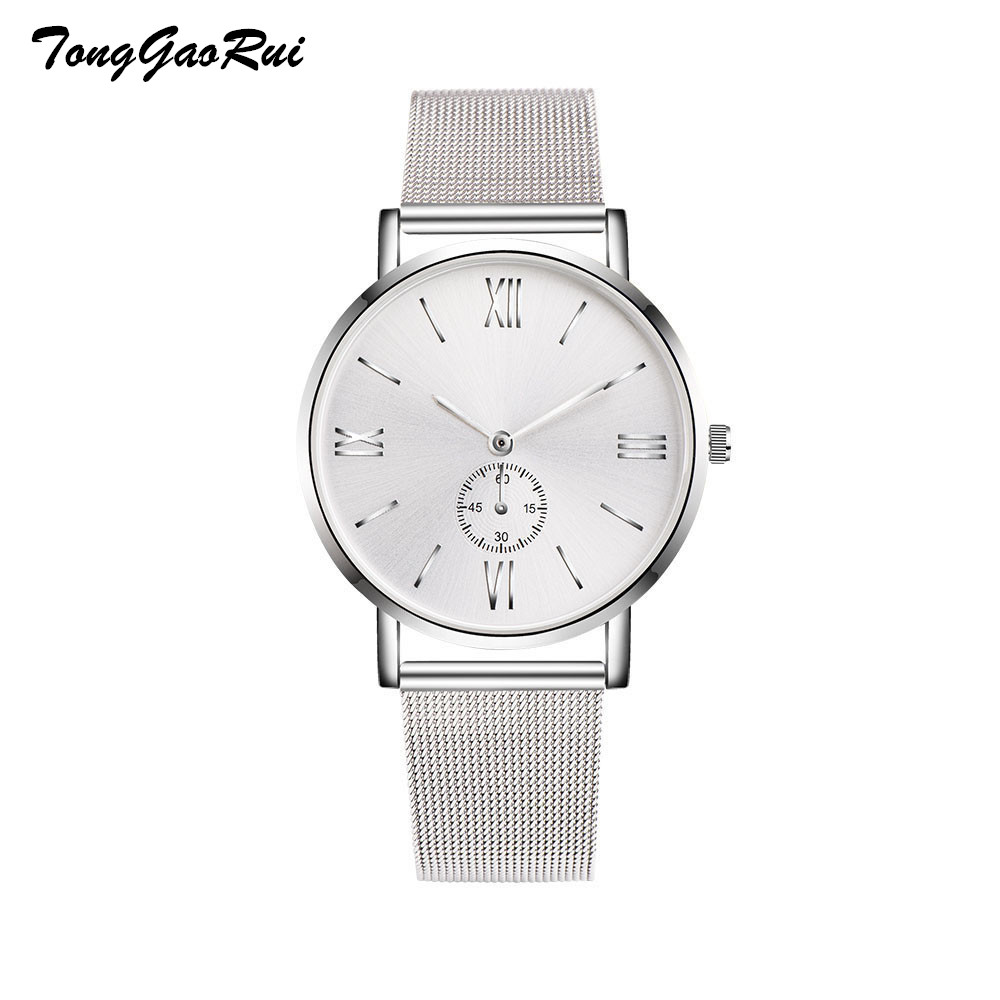 Women Wristwatches Top Brand Luxury Stainless Steel Mesh Strap Watches Crystal Analog Quartz Bracelet Mens Wrist Watch dropship mce top brand mens watches automatic men watch luxury stainless steel wristwatches male clock montre with box 335