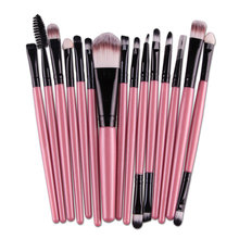 15pcs Makeup Brushes Set Powder Foundation Eyeshadow Eyeliner Lip Brush Tool Make Up Eye Brush Set For Women Gift   H7JP
