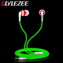 Glylezee G1 Luminous Stereo Cellphone Earphone Headset MP3 Music Headsets Glowing in Dark for Mobile Phone