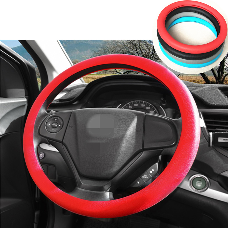 STEERING WHEEL COVER CARBON FIBER LOOK R1 RED i SUITABLE FOR A FORD KUGA