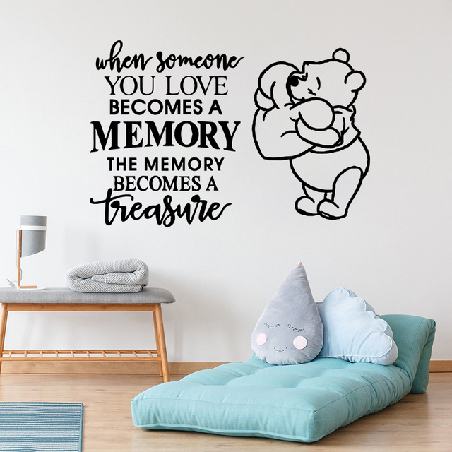 Winnie The Pooh Vinyl Art Wall Sticker Mural Lovely Quote For Kids Room  Decals Playroom Nursery Room Decoration Poster W060