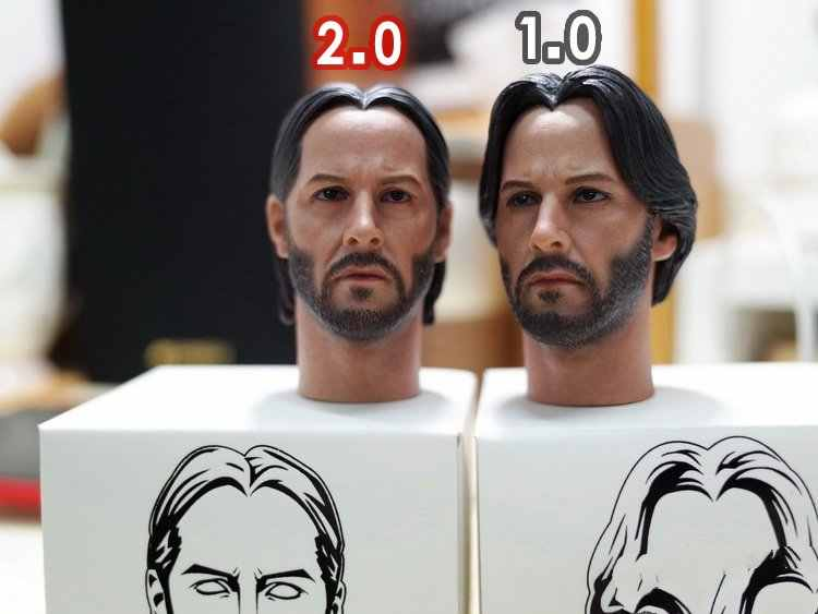 "[ESTARTEK] onze 1/6th Escala John Wick Rápida Busca Keanu Reeves Chefe Sculpt VER1.0/2.0 para 12 ""Collectible Action Figure DIY"