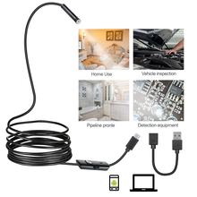 High Quality 7mm Lens Android USB Endoscope Camera 2M 5M OTG USB Snake Tube Inspection Camera IP68 Waterproof 6 PCS LED цены