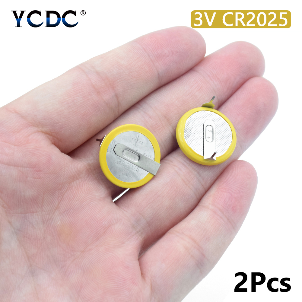 Buy Battery CR2025 3V 2 Tabs Coin Cell For Main Board Toy Electronic Scale 2Pcs for $1.03 in AliExpress store