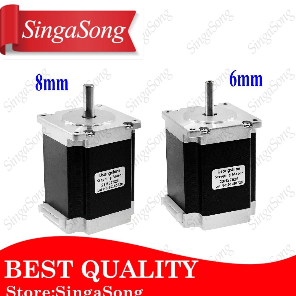 Free shipping 1 PCS 2 phase 4-Leads 20Kgcm 76mm CNC Nema 23 Stepper Motor 3D Printer 23HS8430 1.8deg