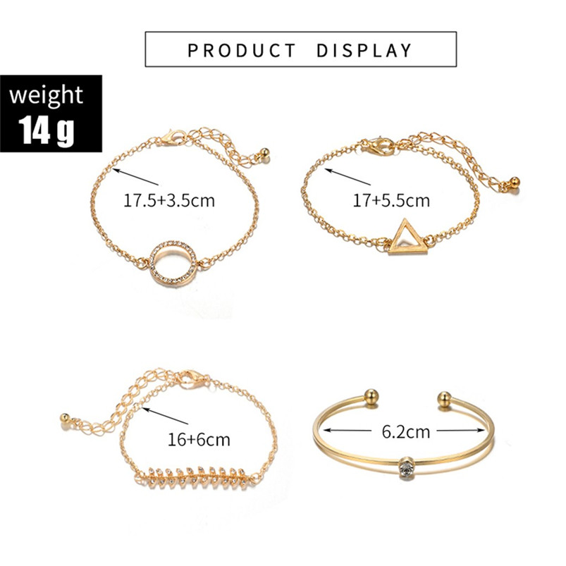 bracelet clou knot bracelet Stylish Multiple Layers Female Elegant Pendant Ladies Jewelry Alloy Bracelet johnny hallyday F14 (5)