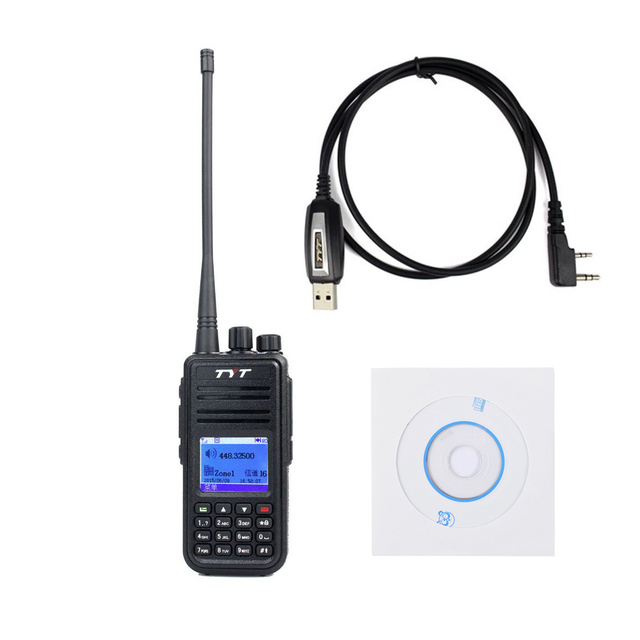 TYT Tytera MD-380 UHF 400-480MHz DMR Digital Radio 1000 Channels Walkie Talkie+ USB Programming Cable&CD md380