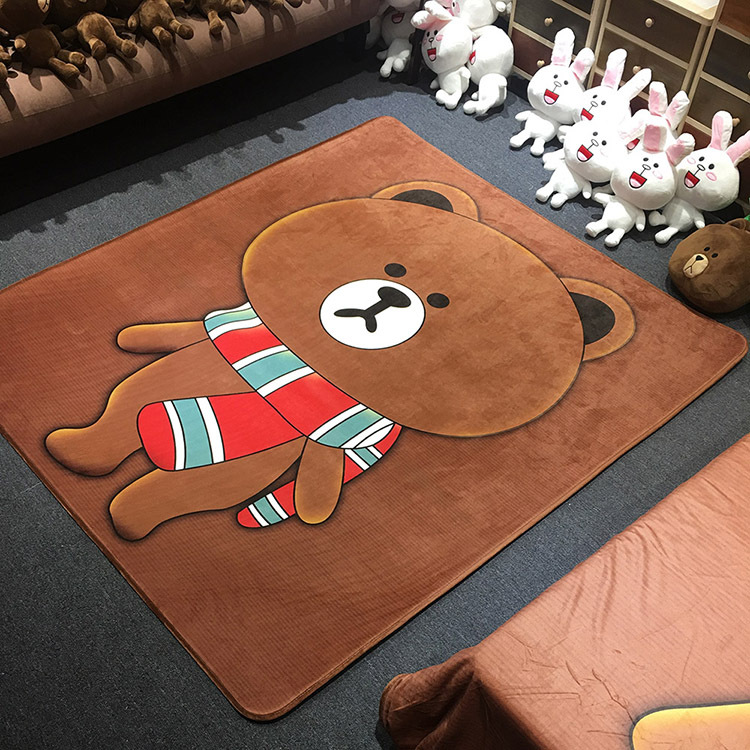 2017 New Cartoon Floor Carpet Rugs Japanese Tatami Mat 150x170cm Big Sheepskin Rug Kids Carpet for Bedroom Child Christmas Gift