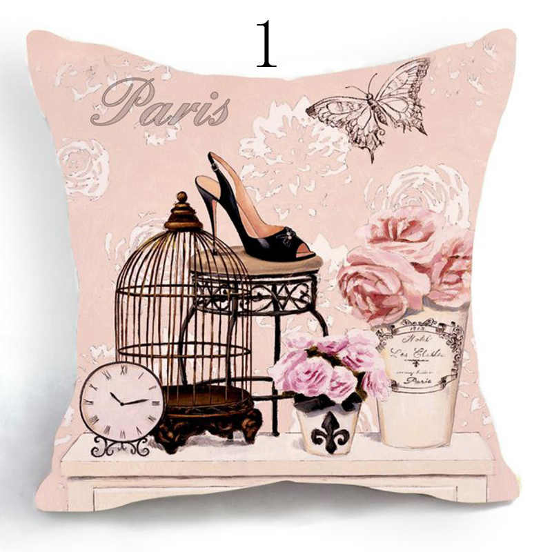 Винтажный очаровательный чехол для декоративной подушки, обувь на высоком каблуке, хлопковое льняное квадратное сиденье стула, наволочка, подушки