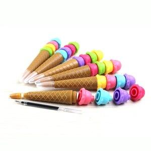 Image 3 - 24 قطعة kawaii قلم حبر جاف موضة فتاة ستار الإبداعية الآيس كريم لفة أقلام للمدرسة الكتابة اللوازم المكتبية القرطاسية الكورية