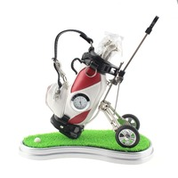 CRESTGOLF New Novelty Golf Gift Mini Golf Pen Holder Creative Pen Container With Three Golf Club
